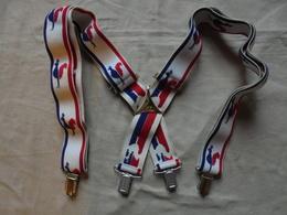 Vintage - Paire De Bretelles Pour Homme Le Coq Sportif - Habits & Linge D'époque