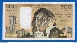 500 Fr  Du 4/11/1976 - 1962-1997 ''Francs''