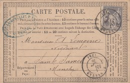 Post Card St. Severin To Sainte James 1878 - Ohne Zuordnung