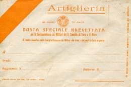 """PUBBLICITA'_ADVERTISING_REKLAM-ARTIGLIERIA""""BUSTA SPECIALE BREVETTATA-PER LA CORRISPONDENZA MILITARE -Original 100% /AN3- - Advertising"""