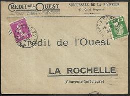 LF C33  Enveloppe De 1933 Cachet Des Convoyeurs Timbres N°139-174 - 1921-1960: Période Moderne