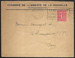 LF C34  Enveloppe De La Rochelle De 1927 Timbre N°199 - 1921-1960: Période Moderne