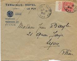 Lampe Osram, Publicité Sur Timbre. Lettre Voyagée 1930 - Electricity