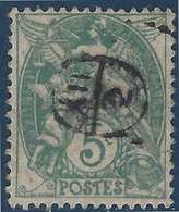 France Blanc N°111 5c Vert Oblitéré Du Cachet à Main De Facteur 12/2 Rond - Marcophilie (Timbres Détachés)