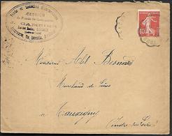 LF C39  Enveloppe De 1909 De Tours Timbre N°138 - 1921-1960: Période Moderne