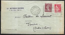 LF C40  Pli De 1937 De Paris Rue De Provence Timbres N°189-283 - 1921-1960: Période Moderne