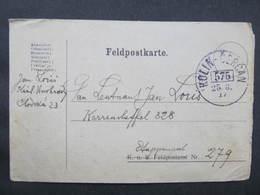 KARTE Bahnpost Zugstempel Kolin - Cercan Nr. 575 1917  / D*38710 - Briefe U. Dokumente