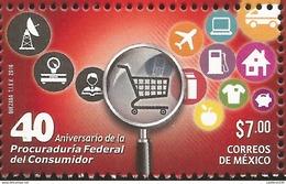 RJ)2016 MEXICO, TRAFFIC SIGNS, 40TH ANNIVERSARY OF THE FEDERAL CONSUMER DEPUTY, SINGLE MNH( Enero 2017) - Mexico