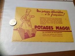 Buvard «POTAGES MAGGI - Des Potages Délectables à La Française » - Sopas & Salsas