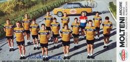 CICLISMO PUBBLICITARIA-MOLTENI ARCORE E I SUOI CORRIDORI SOTTOELENCATI- AUTOGRAFATA  DANCELLI 1970-Original 100% /AN3- - Cyclisme