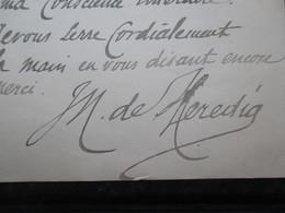 COURRIER AUTOGRAPHE 1893 (V1907) JOSé-MARIA DE HEREDIA (5 Vues) Sur Papier à En-tête De Son éditeur ALPHONSE LEMERRE - Autographes