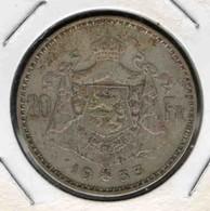 20F 1933 - 11. 20 Francs & 4 Belgas
