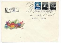 Registered Domestic Cover / Overprint Vytis - 7 April 1993 Kretinga (Klaipėda County) - Lithuania