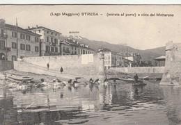 LAGO MAGGIORE - STRESA - ENTRATA AL PORTO E VISTA DEL MOTTARONE - Verbania