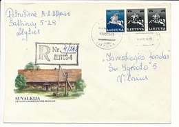Registered Domestic Cover / Overprint Vytis - 15 April 1993 Alytus-4 - Lithuania