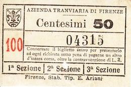 ** AZIENDA TRANVIARIA  DI FIRENZE.-** - Europe