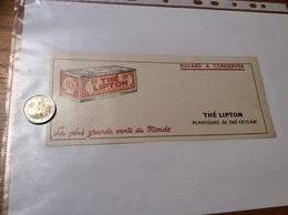Buvard «THÉ LIPTON - La Plus Grande Vente Du Monde» - Café & Thé