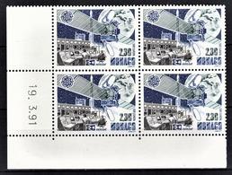 MONACO 1991 BLOC DE 4 TP - N° 1768 - COIN DE FEUILLE / NEUFS** - Monaco