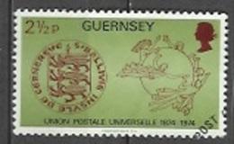 1974 Universal Postal Union, UPU, 2-1/2p, Used - Guernsey