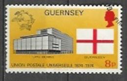 1974 Universal Postal Union, UPU, 8p, Used - Guernsey