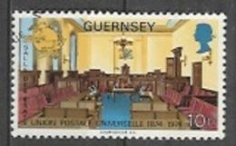 1974 Universal Postal Union, UPU, 10p, Used - Guernsey