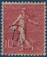 France Semeuse N°129 10c Rose Oblitéré Du Cachet à Main De Facteur B Rond R - 1877-1920: Periodo Semi Moderne