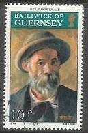 1974 Renoir Paintings, 10p, Used - Guernsey