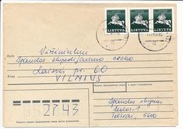 Domestic Cover / Modified Soviet Postmark - 20 January 1993 Telšiai - Lithuania