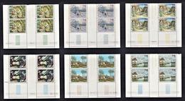 MONACO 1974 - SERIE 6 BLOCS DE 4 TP / N° 967 A 972 EN COINS DE FEUILLES / DATES - NEUFS** - Unused Stamps