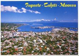 CPM - Papeete : Vue Aérienne - Polinesia Francese