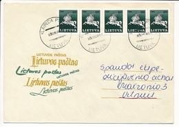 Domestic Cover - 4 August 1993 Klaipėda PSAB - Lithuania