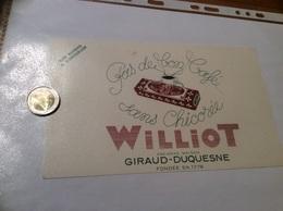 Buvard «Café WILLIOT - ANCIENNE MAISON GIRAUD-DUQUESNE» - Café & Thé