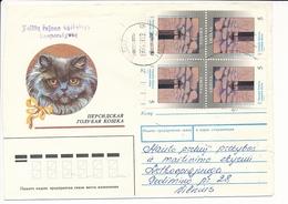 Mi 529 Tête-bêche Pair Commercial Cover - 13 August 1994 Telšiai - Lithuania