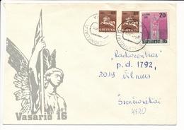 Mi U 12 Uprated Stationery Cover / Imperforated Pair Vytis - 1 March 1992 Švenčionėliai - Lithuania