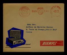 RADIO PHILIPS LUZ Portugal EMA 1956 Sciences Electricity Personal Publicitary Cover Rare/scarce #8059 - Sciences