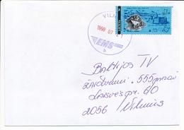 Mi 595 A Solo Domestic Cover - 21 July 1998 Vilnius EMS - Lithuania