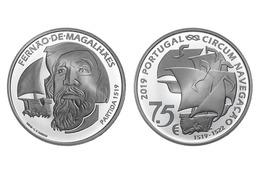 """PORTUGAL 7,5 Euro  2.019  2019  """"CENTENÁRIO DA VIAGEM DE CIRCUM-NAVEGAÇÃO DE FERNÃO""""  PLATA/SILVER  SC/UNC   T-DL-12.282 - Portugal"""