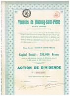 Ancien Titre - Verreries De Masnuy-Saint-Pierre -Titre De 1920 - Rare - Industrie