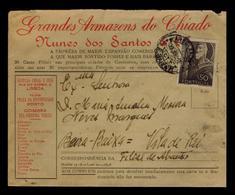 AMBULANCE B.BAIXA II Abrantes  Good-rare Address GRANDES ARMAZENS DO CHIADO Portugal 1948 Publicitary Cover #8061 - Port Dû (Taxe)