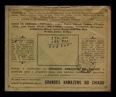 Abrantes Good-rare Address GRANDES ARMAZENS DO CHIADO 1948 Portugal Publicitary Cover Vila De Rei #8062 - Port Dû (Taxe)