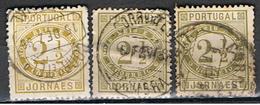 (PO 19) Portugal // YVERT 50a), 50b), 50b) // 1876-94 - 1862-1884 : D.Luiz I