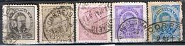 (PO 20) Portugal // YVERT 56, 59, 60, 60a), 61 // 1882-87 - 1862-1884 : D.Luiz I