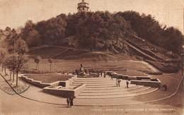 "0536 ""TORINO - MONTE DEI CAPPUCCINI E NUOVA FONTANA"" CART. ORIG. SPED. 1947 - Parcs & Jardins"