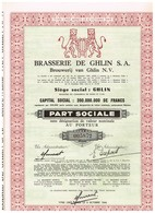 Ancien Titre - Brasseries De Ghlin Société Anonyme -Titre De 1960 - Industrie