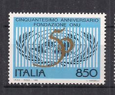 ITALIA  1995 FONDAZIONE DELL'O.N.U. SASS. 2146 MNH XF - 6. 1946-.. Repubblica