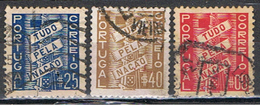 (PO 152) PORTUGAL // YVERT 581, 582, 583 // 1935 - 1910-... Republic