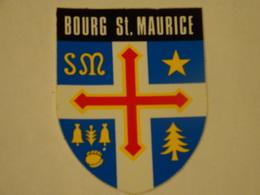 Blason écusson Adhésif Autocollant  Bourg Saint Maurice Savoie Adhesivo Escudo Adesivi Stemma Aufkleber Wappen - Obj. 'Souvenir De'