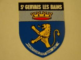 Blason écusson Adhésif Autocollant  Saint Gervais Les Bains Haute-Savoie Adhesivo Escudo Adesivi Stemma Aufkleber Wappen - Obj. 'Souvenir De'
