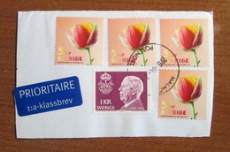 Svezia Sweden 2019 Flowers Tulips 4 Stamps Used - Svezia