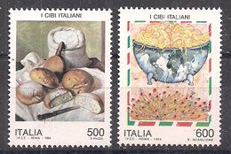ITALIA 1994 CIBI ITALIANI SASS. 2091-2092 MNH XF - 6. 1946-.. Repubblica